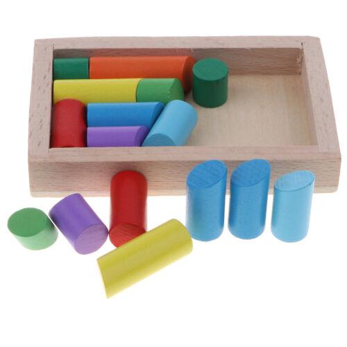 Montessori Wooden Toys Baby Block Intelligence Brain Teaser Puzzle Kids Gift