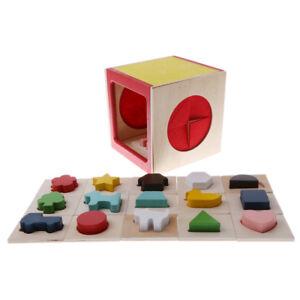 Details about Classic Wooden Shape Sorter Toy - 15 Wood Geometric Shape  Puzzle Pieces