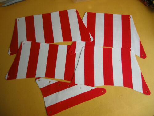 Ersatz Segel Satz für Piratenschiff z B 6285 rot//weiß gestreift Cloth Sail