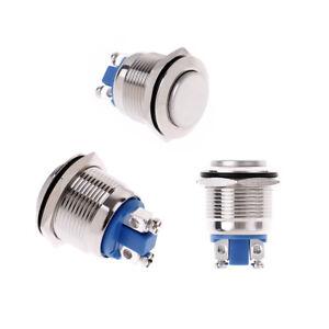 1Pc Momentary Push Button Switch 16mm Waterproof Mount Button Swi TC