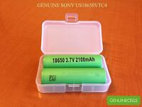 5x Authentic Sony Us18650vtc4 2100mah 30a Imr Highdrain Rechargeable Battery