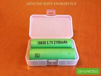 4x Authentic Sony Us18650vtc4 2100mah 30a Imr Highdrain Rechargeable Battery