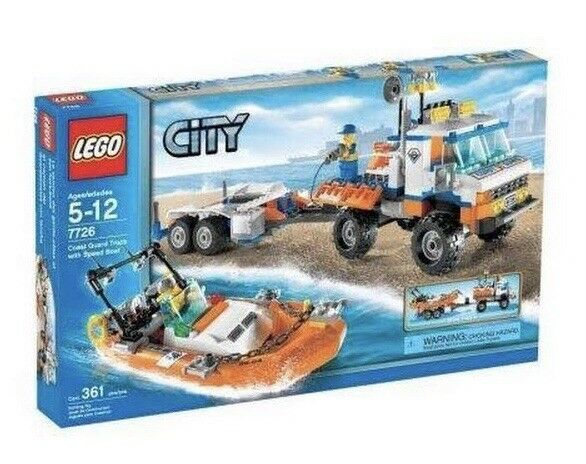 LEGO city Coast  Guard camion avec Vitesse Bateau (7726)  gros pas cher