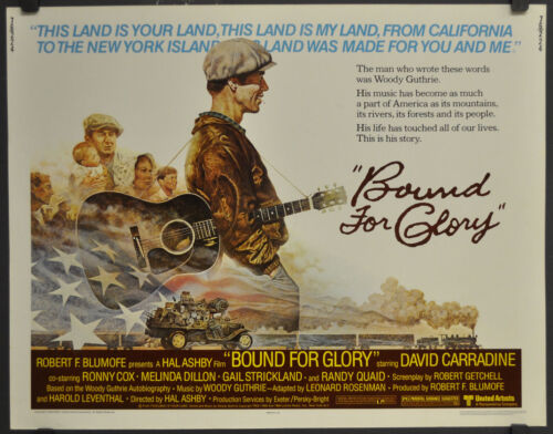 BOUND FOR GLORY 1976 ORIG 22X28 MOVIE POSTER DAVID CARRADINE RONY COX