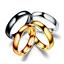 Anello-Anelli-Fede-Fedina-Uomo-Donna-Unisex-Acciaio-Cristallo-Fidanzamento-Love miniatura 1