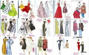 OOP-Vintage-Retro-1940s-1950s-Butterick-Sewing-Pattern-Rockabilly-VLV-Misses