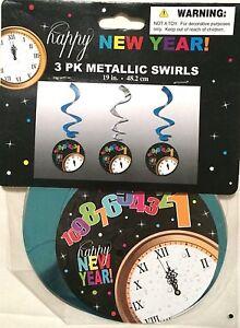 Happy New Year Metallic Dangler Swirls New Year's Eve ...
