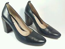 Clarks Narrative womens black leather high block heel shoes uk 7D