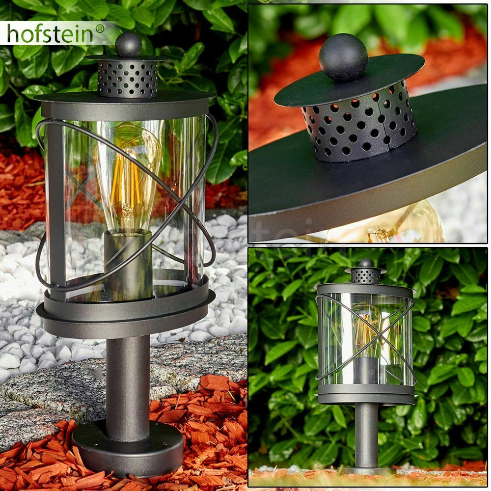Exterior de pie lámparas zócalo lámpara de jardín luces caminos bolardo iluminación negro
