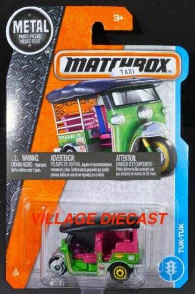 Thailand 4 Mini Tuktuk Car and 5 Taxi Toy Big Set Different Color Gift Pack
