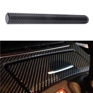 Film-Vinyle-3D-Carbone-Adhesif-Thermoformable-Autocollant-127cm-x-30cm-Noire