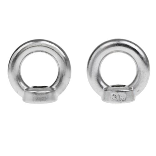 2 Stücke M14 /& M16 304 Edelstahl Ringmutter Ringform Muttern 14mm /& 16mm