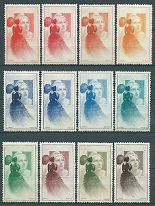 France-1949-Vignettes-Centenaire-du-timbre-poste-serie-complete-Neufs