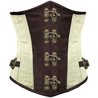 Brocade Gothic Lace Up Boned Steampunk Underbust Overbust Corset Tops all sizes