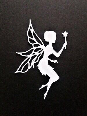 10 x gold//silvercute fairies with wands,card toppers card making die cut.