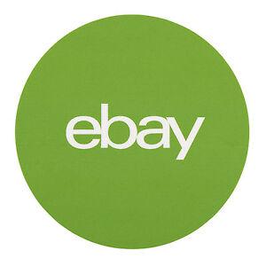 "Green, Round eBay Branded Stickers 3"" x 3"""