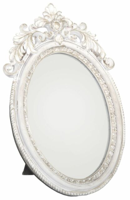 Antique Style Ornate Oval Freestanding Dressing Table Mirror 24Cm X 16Cm