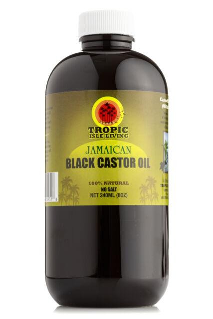 Tropic Isle Living Jamaican Black Castor Oil Plastic PET Bottle (8 oz)