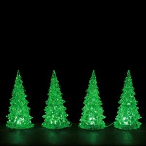 Lemax Christmas Village Town Crystal Lighted Tree 3 Color Changeable Small 94518