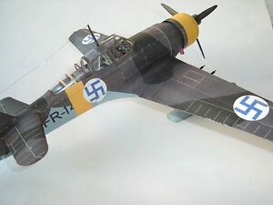 1-33-Scale-Germany-Fokker-D-XXI-Fighter-Aircraft-Handcraft-Paper-Model-Kit