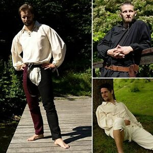 LARP-Fencing-Shirt-Cotton-Fencing-Shirt-Black-Or-White-Ideal-For-Events