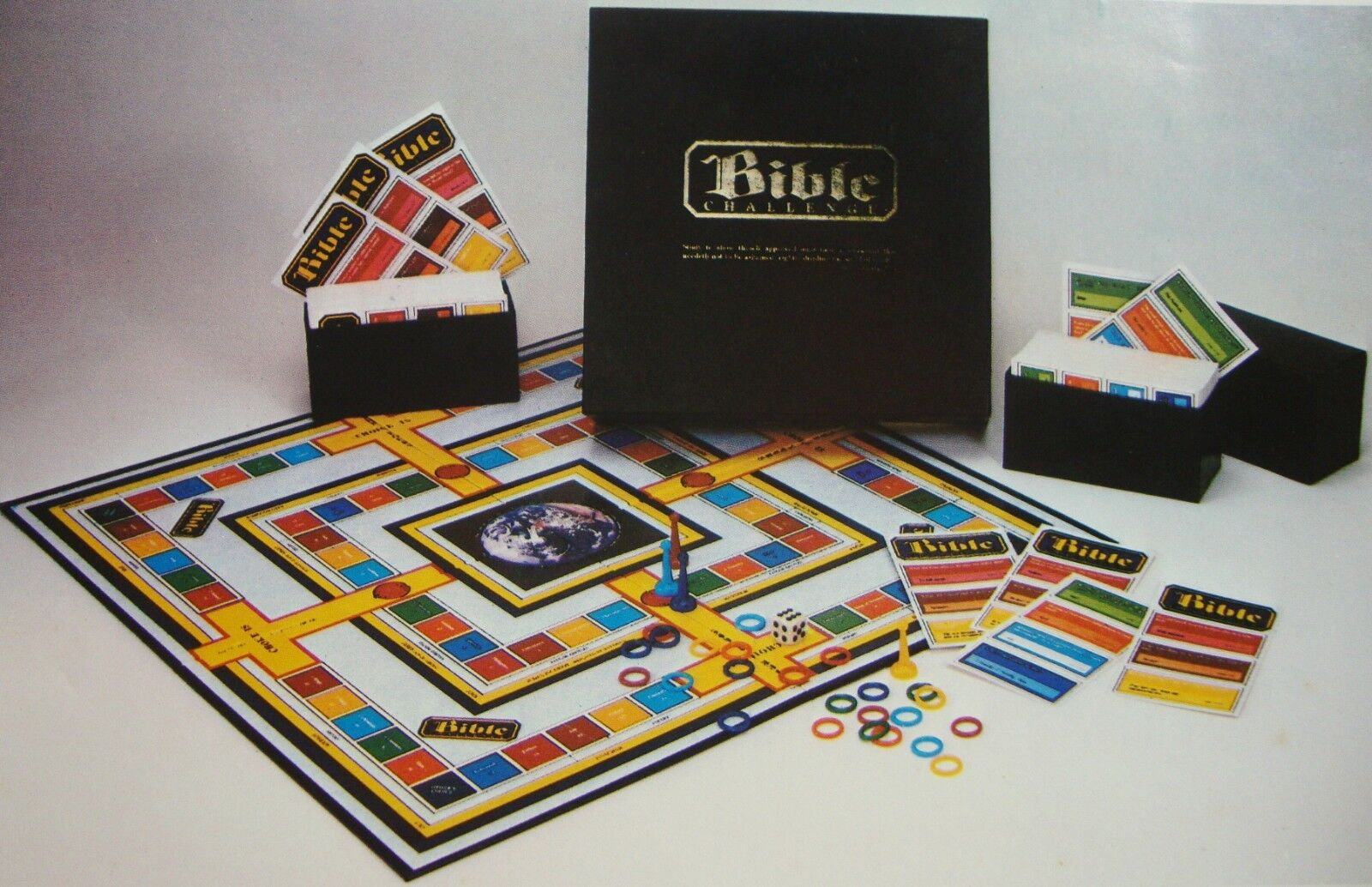 Bible Challenge Trivia Board Game Complete Bible Study Religious Education 1984