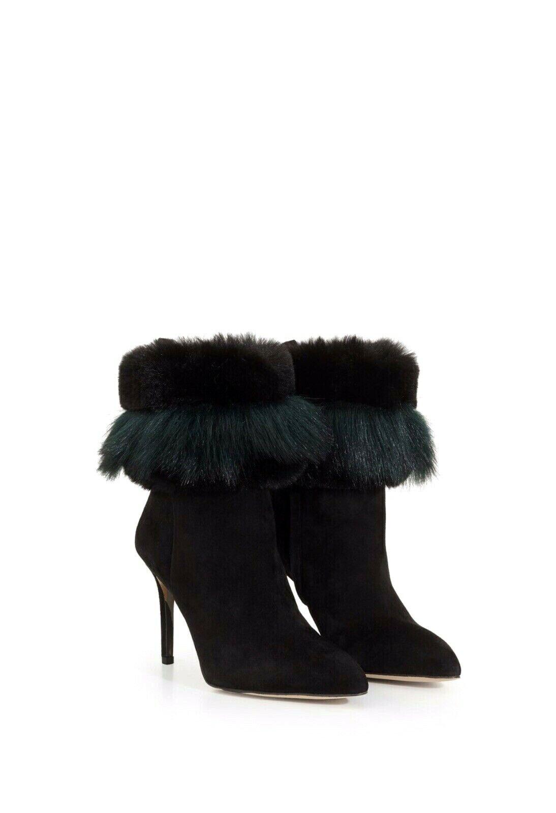 preferenziale Sam Edelman Oleana Fur Stiletto avvio nero nero nero Emerald Suede Side Zip Ankle avvioie 9  prezzi equi