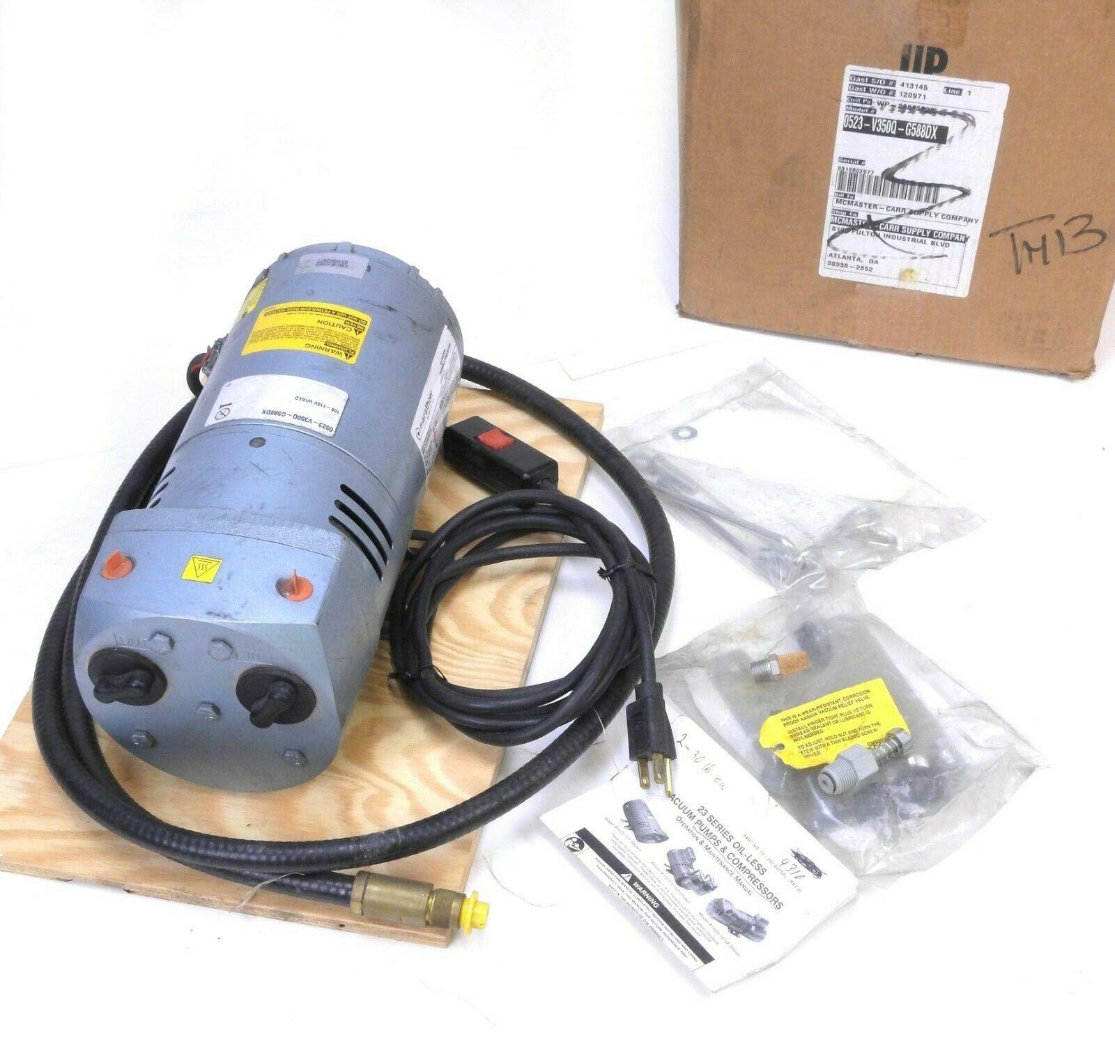 Gast Oil-less Rotary VaneVaccum Pump 0523