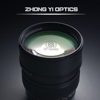 Mitakon Zhongyi Speedmaster 85mm f/1.2 Prime Lens for Canon EF 5d3 5d2 6d