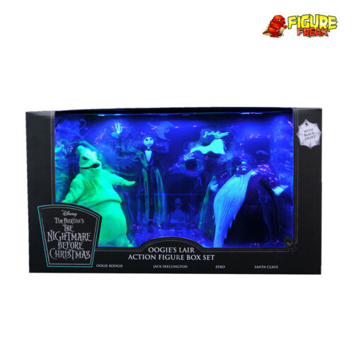 Nightmare Before Christmas Deluxe San Diego comic-con Oogie/'s Lair Noir Lumière Set 3000 seulement!