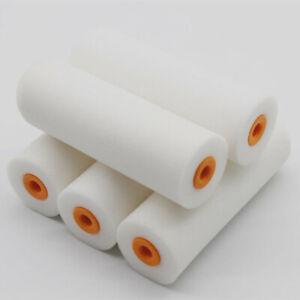 "100mm Wide 11 Pack Set Gloss Paint Mini Roller Sleeves Foam Pile Refills 4/"""