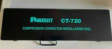 Panduit Ct 720 Compression Manual Crimping Tool With Case 6 Ton Crimp 26 Long