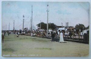 VINTAGE-1907-UNDIVIDED-POSTCARD-BOARDWALK-ONTARIO-BEACH-NY-NEW-YORK