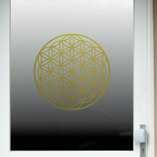 Aufkleber Tattoo 40cm gold Auto Tür Fenster Folie Blume des Lebens Lebensblume
