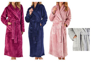 1d169bb184 Image is loading Slenderella-Womens-Luxury-Thick-Flannel-Fleece -Dressing-Gown-