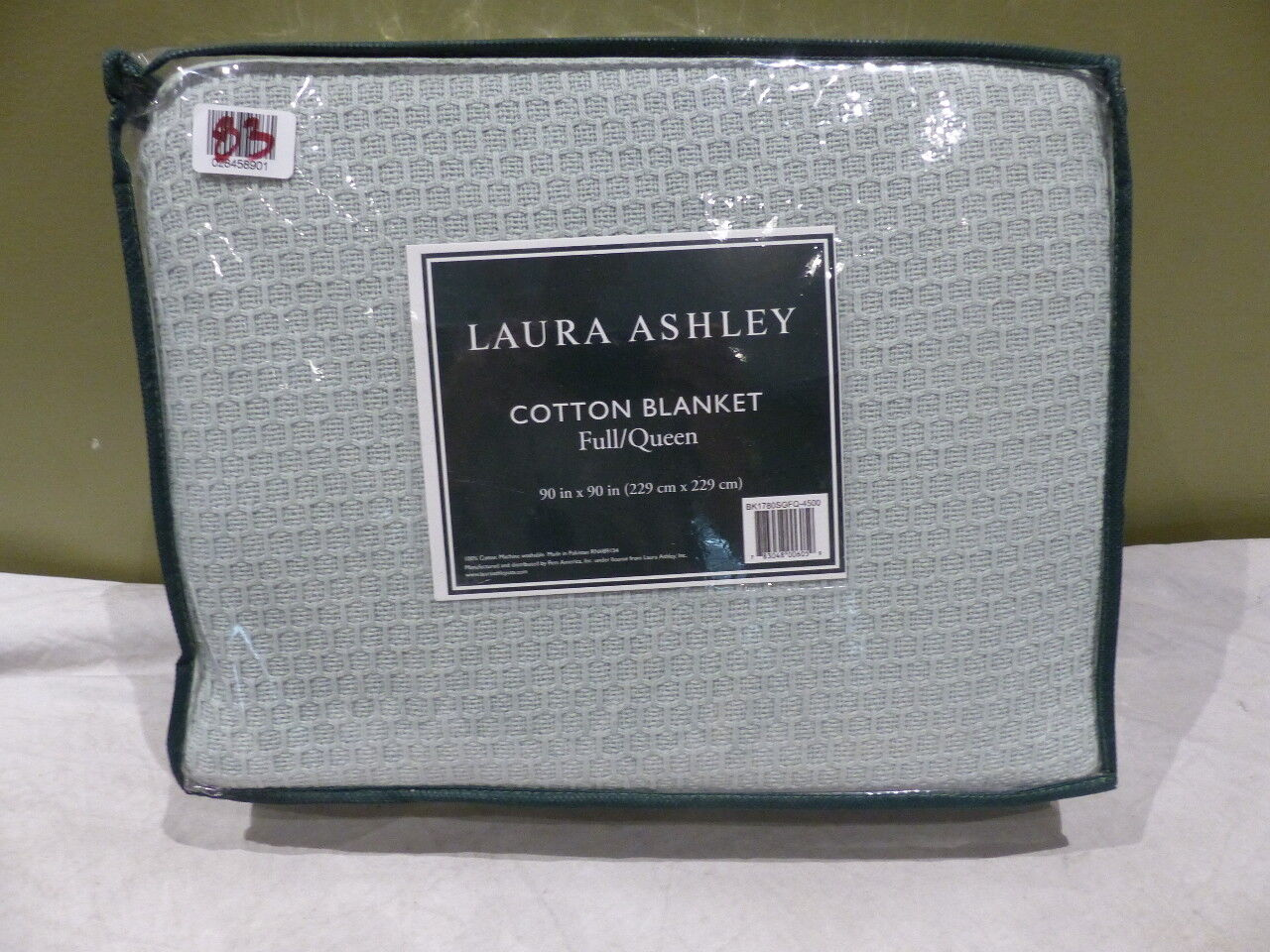 LAURA ASHLEY COTTON BLANKET QUEEN BK1780SGFQ-4500 100% COTTON