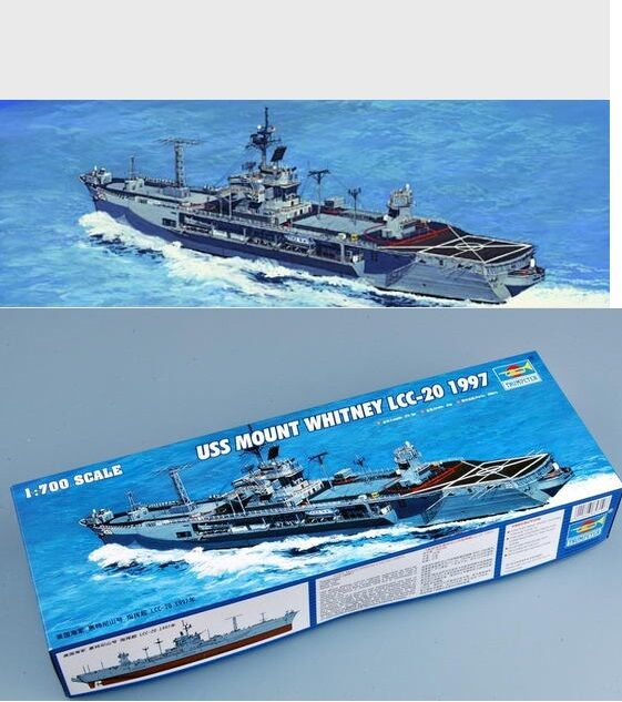 Trumpeter USS Mount Whitney LCC-20 1997 Command Warship 05719 1 700 Static Model