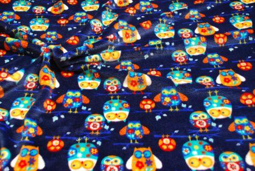 blu scuro GUFI BILATERALE Super Morbide Cuddlesoft pile TESSUTO STOFFA