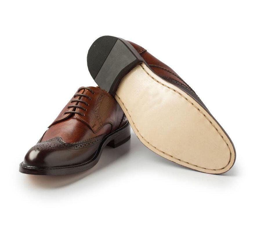 MEN NEU HANDMADE LEATHER Schuhe OXFORD BROGUE TWO TONE FORMAL Schuhe