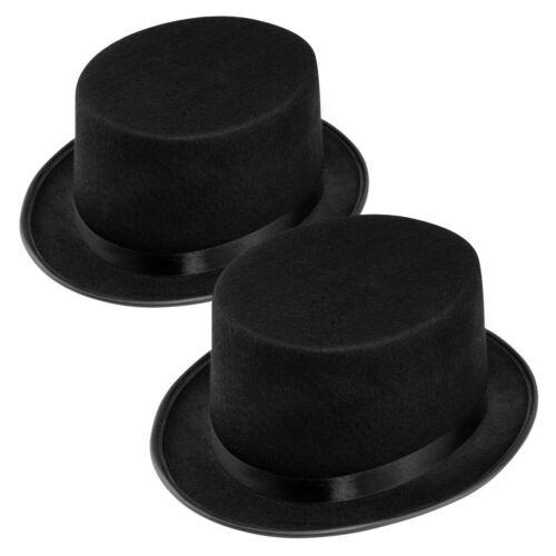 2x WELLGRO Zylinderhut Chapeau Fasching Karneval Hochzeit Magier Zylinder Hut