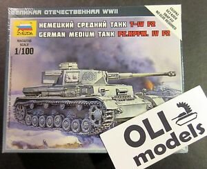 1/100 German Medium Tank Pz.Kpfw.IV Ausf.F2 - Zvezda 6251