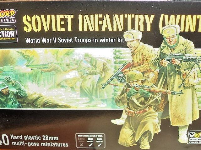 Infantry Winter Soviet Army Bolt Action 2nd WWII Warlord Games 1 56 Model New