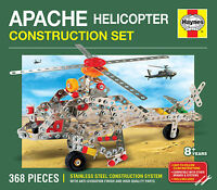 APACHE HELICOPTER CONSTRUCTION SET 368 PIECES HAYNES STAINLESS STEEL Meccano Lik