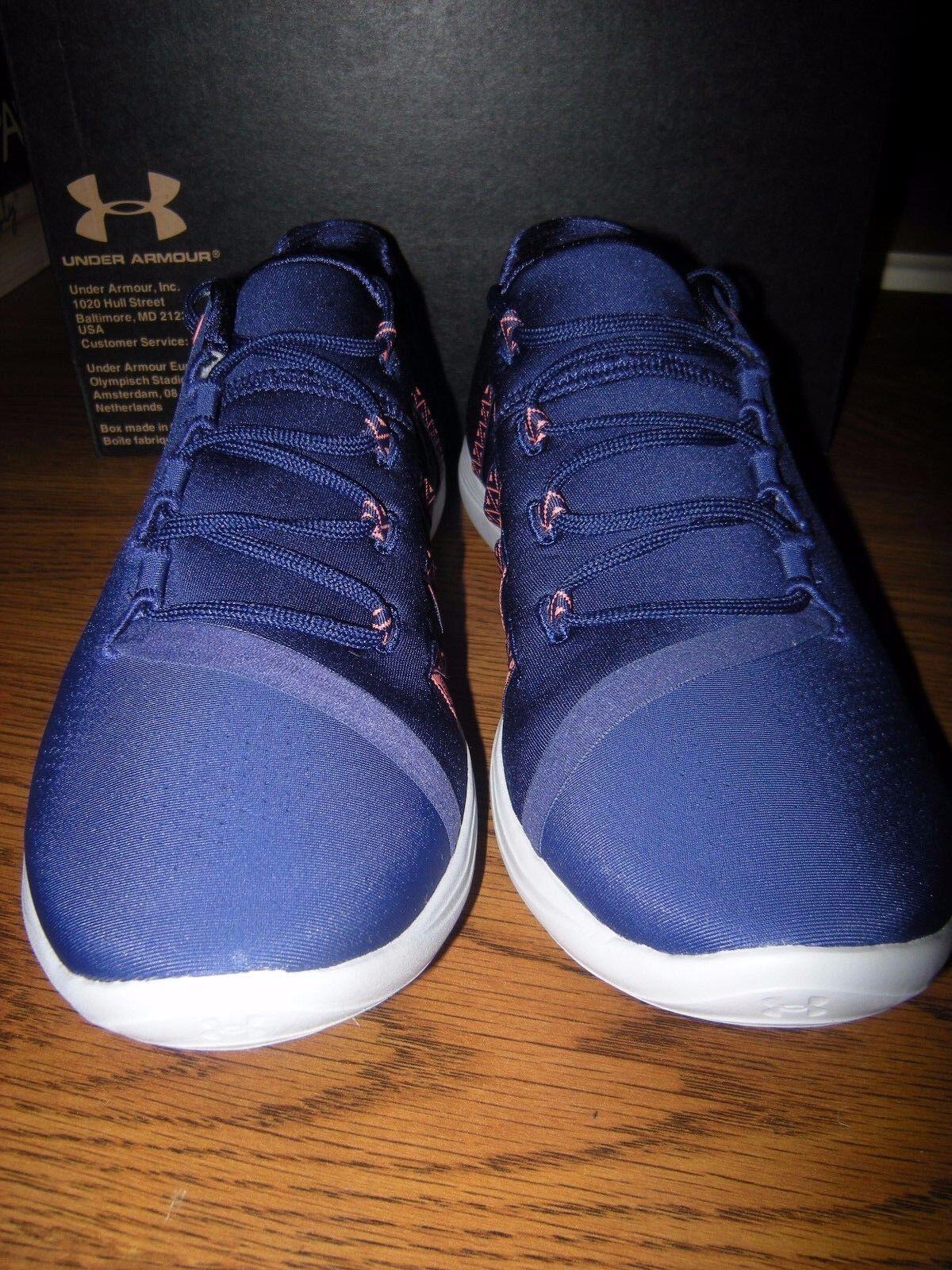 Brand New Damenschuhe Blau & Orange Under Armour Street Precision Tennis Schuhes, 6.5