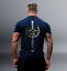 ACHIEVE THE IMPOSSIBLE NAVY GYM WEAR Gym Training T-shirt MMA TRAINING