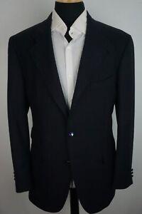 Etro-Milano-Navy-Blue-Silk-Blend-Big-Flashy-Button-Sport-Coat-Jacket-Sz-46R