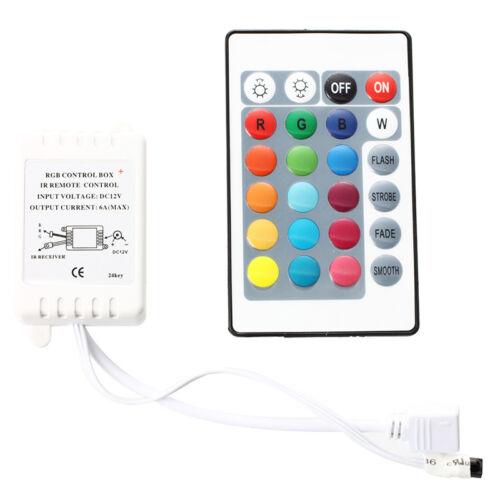 Infrarot-Fernbedienung mit 24 Steuer RGB LED Licht Streifen Leuchten O7Q7