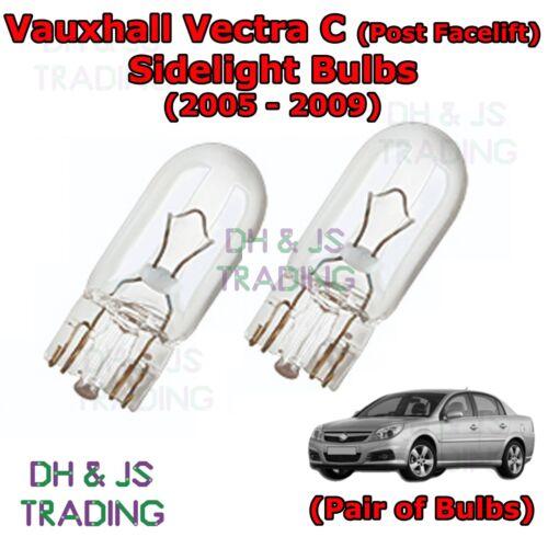 05-09 Vauxhall Vectra C Front Sidelights Parking Lights Side Light Bulb Bulbs