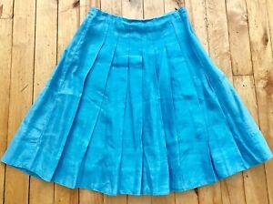 celeste Blumarine blu S taglia in seta in cotone a Gonna pieghe Blugirl Fqw7F1S