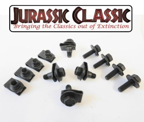 1946-80 Ford 8pk 5//16-18 Body Fender Extruded U-Nuts /& Hex Head Bolts w// Washers